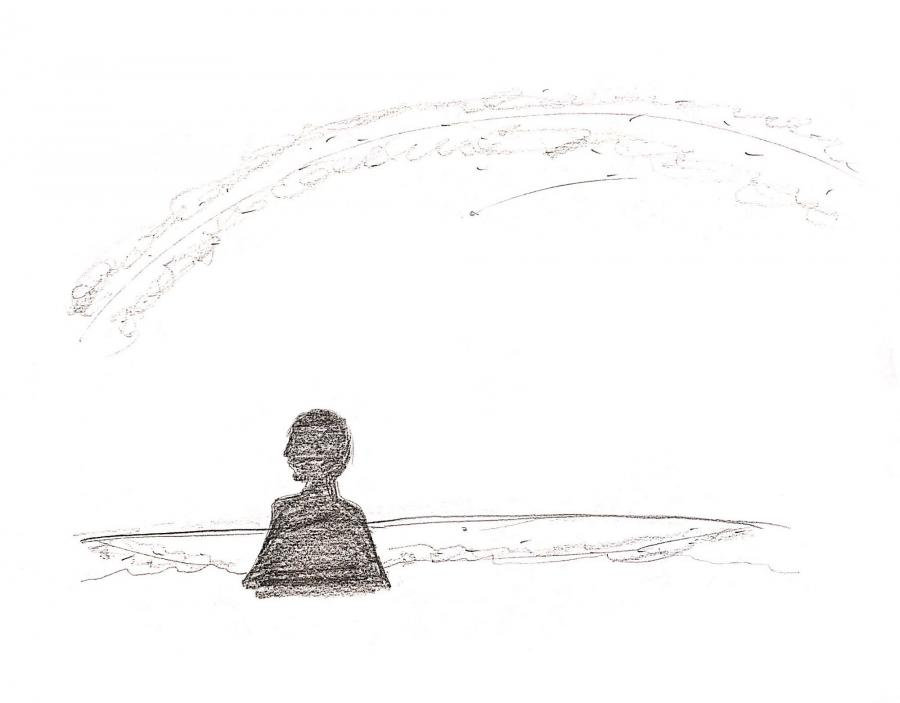 Drawing of silhouette