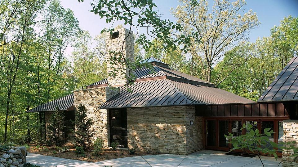 fetzer institute seasons meeting house in summer